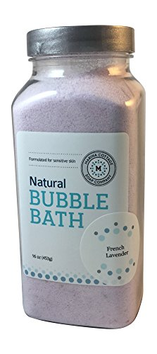Relaxing Lavender Milk Bath Powder (Marina Cottage Soap Co. Organic Powdered Bubble Bath, French Lavender)