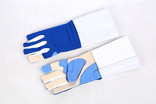 LEONARK Metal Fencing Gloves for Saber - Mittens Fencing Match Bout Practice - Saber Metallic Fencing Gloves for Child and Adult Fencer - 1 Pack