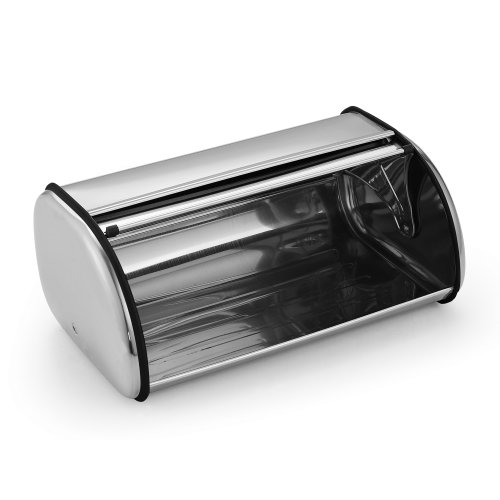 Cook n home stainless steel bread box 17 inch by 11 inch for Kitchen 17 delivery
