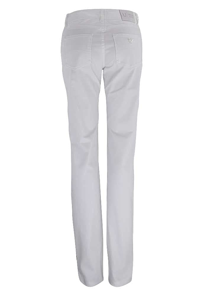 Armani Jeans Slim Fit Jeans Color Blanco Blanco Weiß: Amazon ...