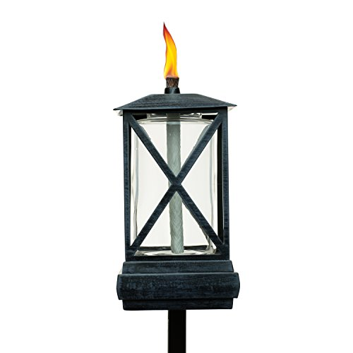 TIKI Brand 65-Inch Square Beacon Torch, Metal/Black -