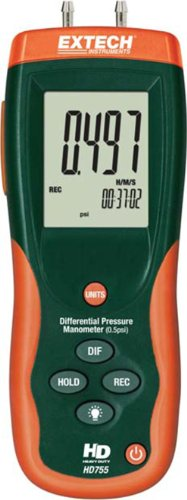 Extech HD755 Differential Pressure Manometer- 0.5PSI ()