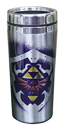Legend Kitchen (Nintendo The Legend of Zelda Link and Hylian Shield Travel Mug, 15oz)