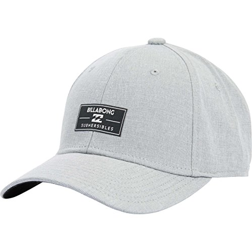 Billabong Canvas Hat - Billabong Men's Die Cut Gothic Trucker Hat, Grey, Small/Medium