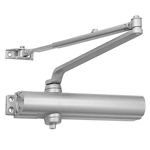 Heavy Duty Commercial Door Closer - LYNN HDWR Model # LH8016 (US26D Aluminum Finish)- Surface Mounted, Grade 1, Cast Aluminum, UL 3 Hour Fire Rated and ADA for high trafic doorways & storefronts