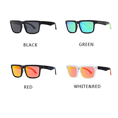 Mujer sol Hombre Moda de Gafas Polarizadas Deportes JULI D710 Verde vUBA7x