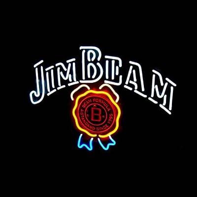 "New Jim Beam Neon Light Sign Home Beer Bar Pub Recreation Room Game Room Windows Garage Wall Sign 17w""x 14""h"