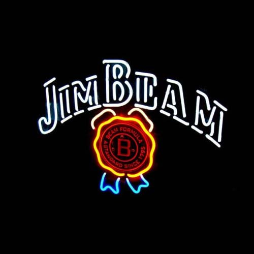 17' Metal Poster - New Jim Beam Neon Light Sign Home Beer Bar Pub Recreation Room Game Room Windows Garage Wall Sign 17w