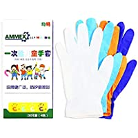40PCS Disposable Gloves Small for Kids, Blue Nitrile Gloves for Crafting Painting Gardening Cooking Cleaning,Blue