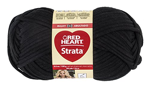 Red Heart Nylon Yarn - RED HEART Strata Yarn, Black