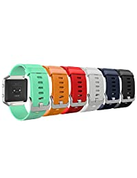 """Fitbit Blaze Accessory Band, MoKo [6 PACK] Colorful Soft Silicone Adjustable Replacement Strap Bands for Fitbit Blaze Smart Fitness Watch, Wrist Length 5.90""""-8.26"""", 6PCS (Multi-Colors)"""