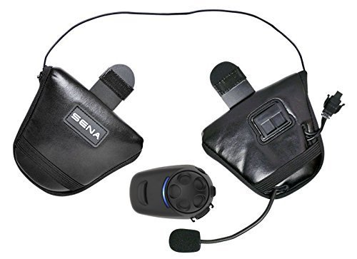 SENA SPH10HD-FM-01 Bluetooth Stereo Headset & Intercom DUAL System for HALF Helmets, SPH10HD-FM-01 Includes (2) Complete headsets Kits (does NOT include helmet)