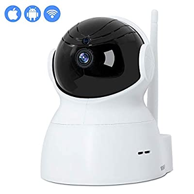 INKERCOOP Dome Camera 1080P Mini Wireless WIFI IP Security Camera Pan/Tilt/Zoom Indoor Surveillance Camera with Night Vision Motion Monitor Camera for Baby Pet Nanny from INKERSCOOP