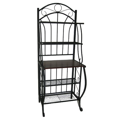 Accents Totally Furniture - Boraam 12500 Valencia Metal Baker's Rack