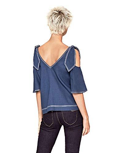 Donna PL303013 Blu Blusa Jeans Pepe watCqPZ