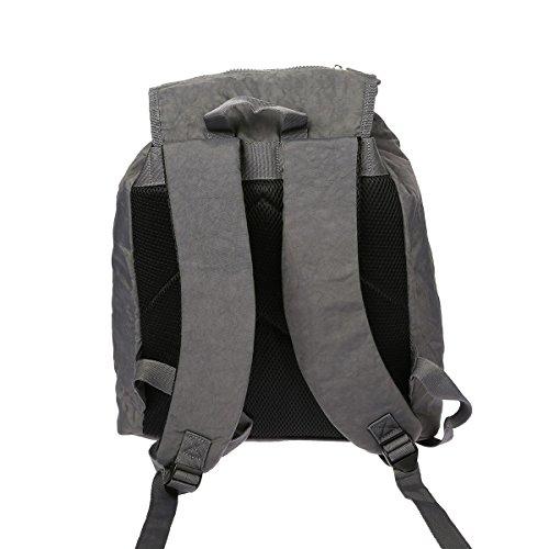 Enrico Benetti - Bolso mochila  de nailon para mujer Gris gris