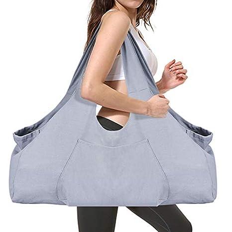 Large Yoga Mat Bag SKL Yoga Mat Tote Sling Carrier with Large Side Pocket, Yoga Mat Holder Fits Most Size Mats