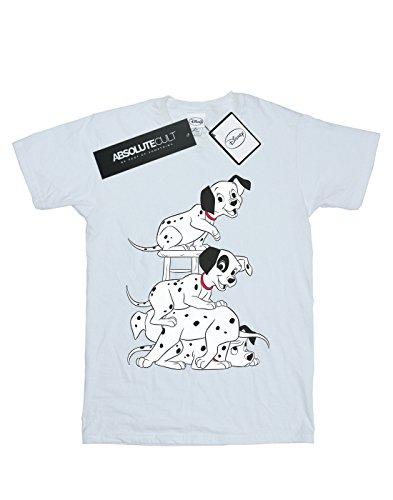 camiseta Dalmatians blanca Boyfriend Disney Woman 101 Chair Fit qwv86