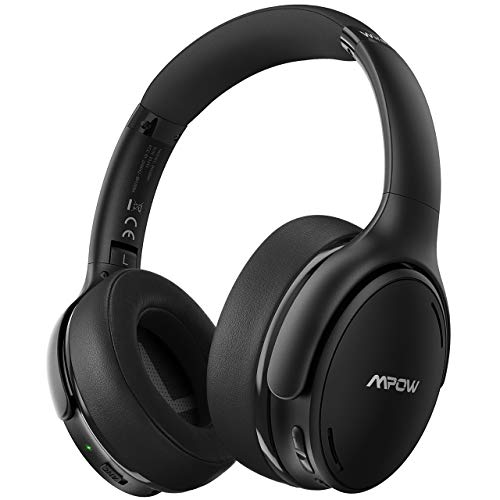 Mpow H19 IPO Active Noise Cancelling Headphones, Bluetooth 5.0 Wireless Headphones with CVC 8.0 Mic, Hi-Fi Stereo Deep Bass, Rapid Charge 35H Playtime, Memory-Protein Earpads Over Ear for Travel/Work