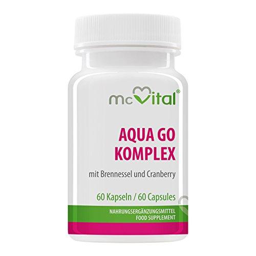 Aqua GO Komplex - mit Brennessel und Cranberry - 60 Kapseln - Entwässerung - Definition - Entschlackung