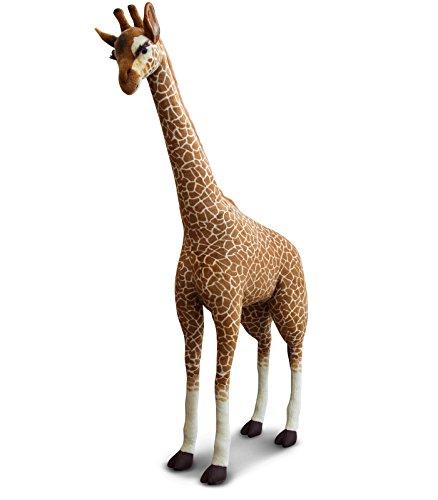 FAO Schwarz Giraffe Giant Plush Toy, 8-Foot Tall Cute & Fluffy Stuffed Giraffe Pal For Children - Super Soft Hypoallergenic Polyester Fabric, Sturdy Wire-Framed Legs, For Boys & (Giant Plush Giraffe)