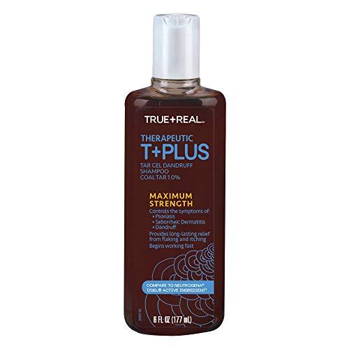 (True+Real Therapeutic Tar Gel Dandruff Shampoo Coal Tar, 6 Ounce)
