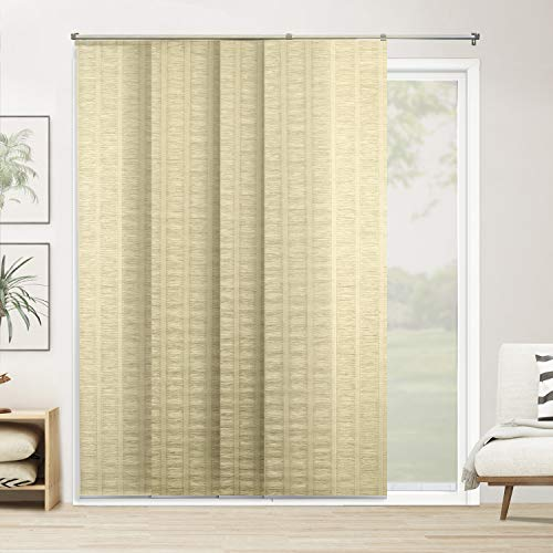 96 Vertical Door - CHICOLOGY Adjustable Sliding Panels Cut to Length Vertical Blinds, Up to 80
