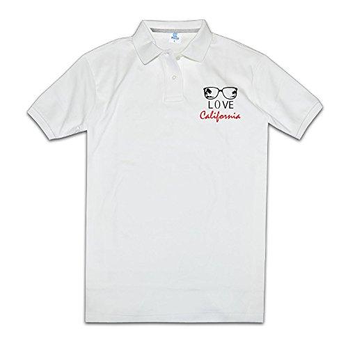 I Love California Mens Polo Style XXL White]()