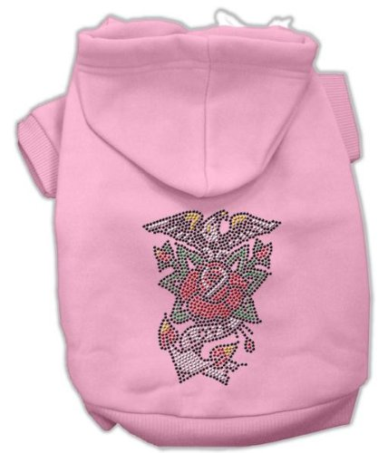 Mirage Pet Products 20-Inch Eagle Rose Nailhead Hoodies, 3X-Large, - Pink Nailheads