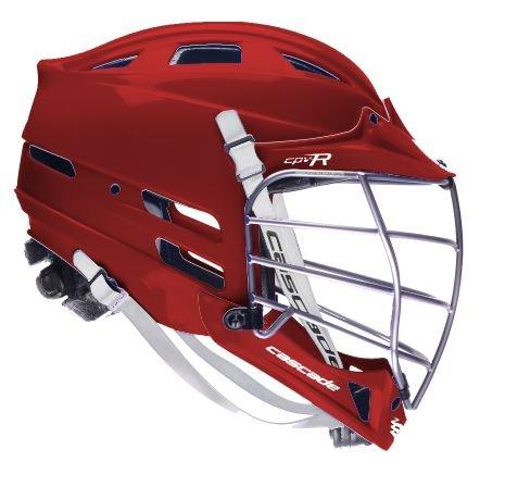 - Cascade CPV-R Lacrosse Helmet (Maroon Shell/Silver Mask) - Small/Medium