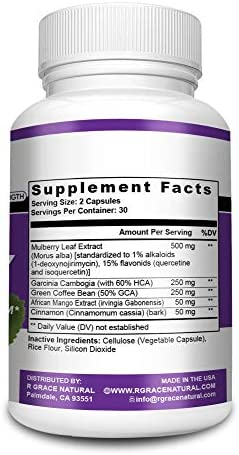 White Mulberry Leaf Extract-Supports Healthy Glucose Levels-Natural Premium Blood Sugar Control-Appetite suppressant for Weight Loss and Fat Loss, Natural Weight Loss Supplement, Non-GMO-Made in USA 4