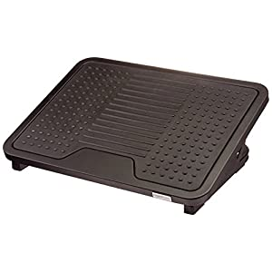 AmazonBasics Under Desk Foot Rest – Black