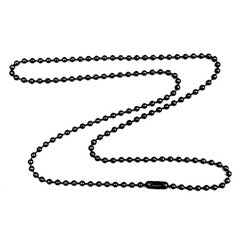 Gunmetal Steel 3.2mm Ball Chain Necklace with Extra Durable Color Protect Finish - 34 (Chain Gun)