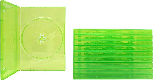 (10) Empty Standard XBOX 360 Translucent Green Replacement Games Boxes/Cases - Paper 360 Xbox