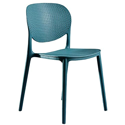 (LJFYXZ Modern Design Dining Chairs Office Computer Chair Breathable backrest Suitable for Summer Plastic seat Bearing Weight 120kg for Office Lounge (Color : Blue))