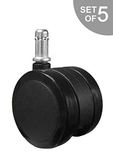 Herman Miller Aeron Soft Caster Wheel for Hardwood Floors - 5 Casters (Miller Casters Herman Aeron)