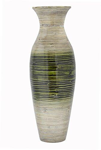 Spun Bamboo Vase (Heather Ann Creations W33900-Lgre 29 Inches Spun Bamboo Floor Vase, Green)