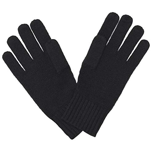 Cashmeren Unisex Plain Knit Solid Scarf - Matching Gloves Pure Cashmere Accessories • Add Both To Cart A Set