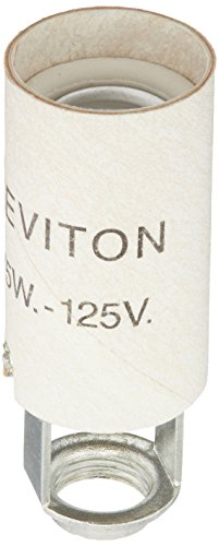 Leviton 20025 Candelabra Base One-Piece Keyless Incandesc...