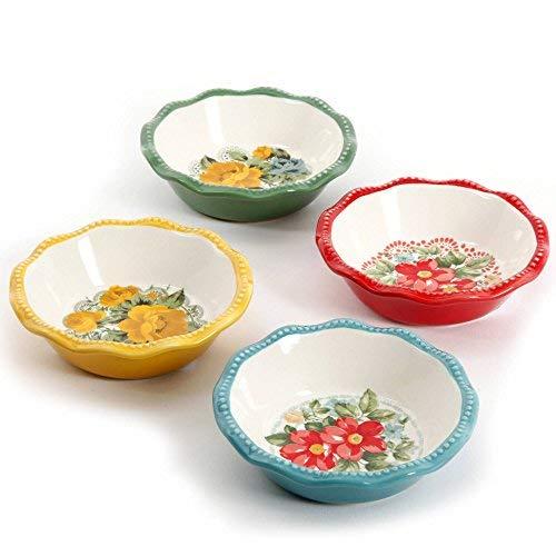 The Pioneer Woman Vintage Floral Mini Pie Plate Set, Set of 4