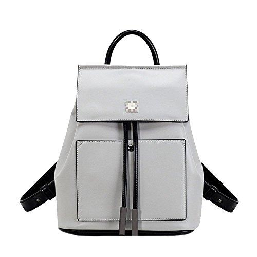 Cuir Drawstring Grey à Filles Pour Sac Casual Sac Dos Femmes Schoolbag Dos Daypack à En QXMEI q4aPTXw4