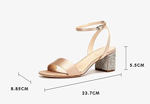 Color Color For Color Band Women Pure Band Sandalias 35 De De Tamaño Albaricoque Moda Verano ZCJB Pure FOHqCvwn