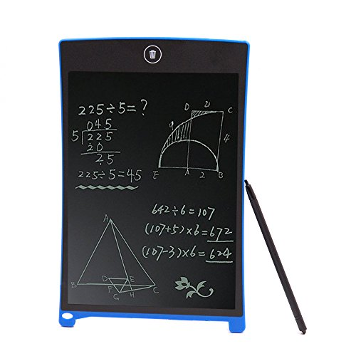 LCD Writing Tablet Drawing Board Electronic Graphic Drawing Board Durable Handwriting Pad Tool Kit with Stylus Digital Rewritten Writing and Drawing Tablet Gift for Kids School Office Kitchen Memo and Taking Notes 8.5 Inch Blue