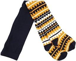 Happy Socks 1-pk Zig Zag Tight - Navy-6-12 Months