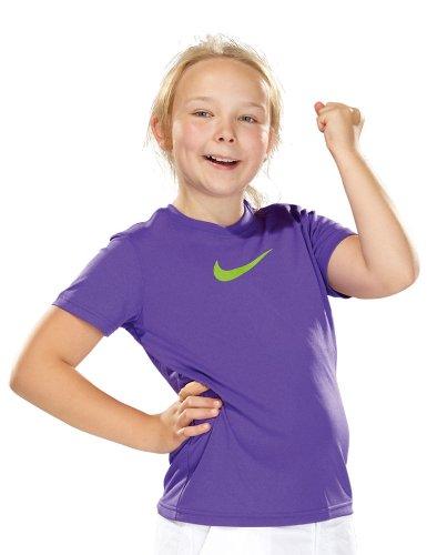 Nike Mädchen Tennisshirt Legend pure purple/action green KN389502M