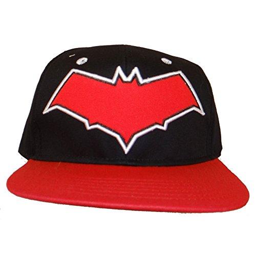 Batman - Red Hood Logo Snapback Cap One Size, Red/Black (Dc Comics Red Hood Hat)