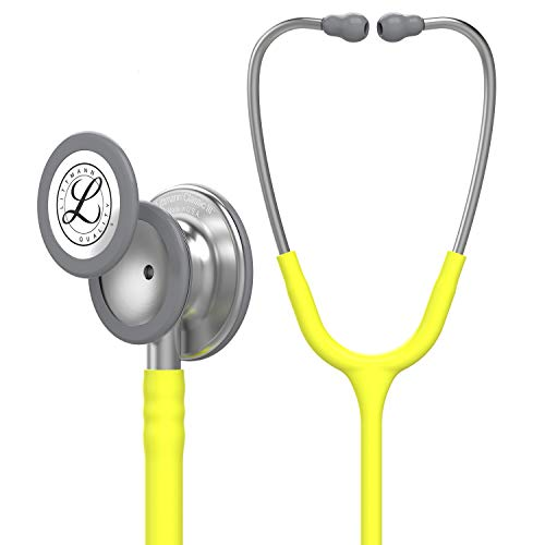3M Littmann 5839 Classic III Stethoscope Stainless Steel Finish Chestpiece, 27 Inch, Lemon-Lime Tube