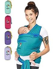 YUNIQME® Tragetuch fürs Baby - Elastisches Babytragetuch aus 100% Baumwolle - GOTS - Babysling für Neugeborene bis 9kg empfohlen - Bauch Babytrage I Baby Zubehör - OEKO TEX
