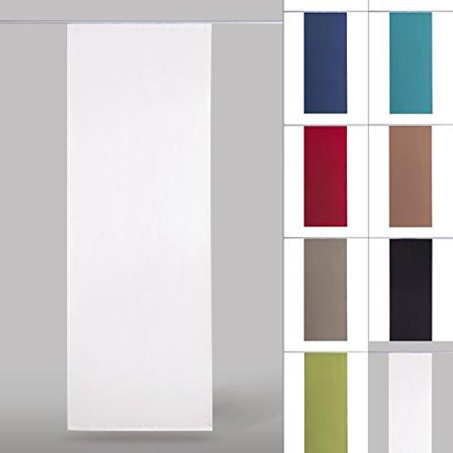 Flächenvorhang blickdicht Schiebegardine Raumteiler Schiebevorhang ca.60cm x 245cm, Auswahl: ohne Technik, weiß - perlweiß