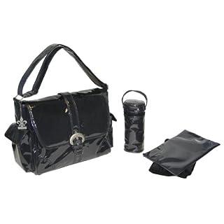 Kalencom Laminated Buckle Bag, Black Corduroy